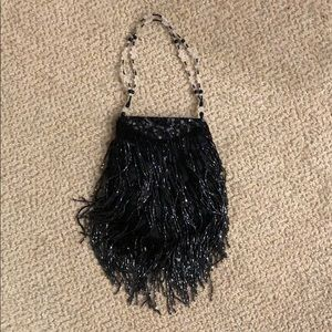 Cache beaded evening bag purse